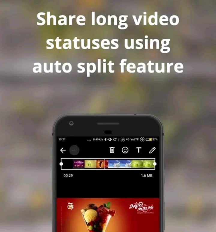 Share long video status