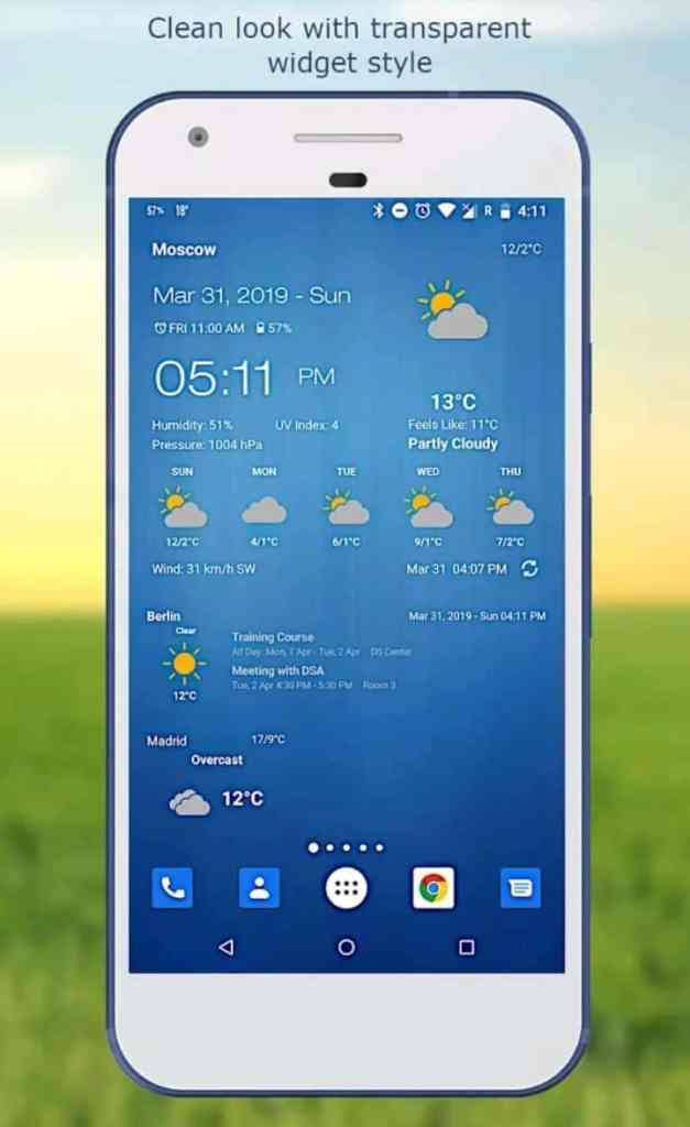 Weather widget app
