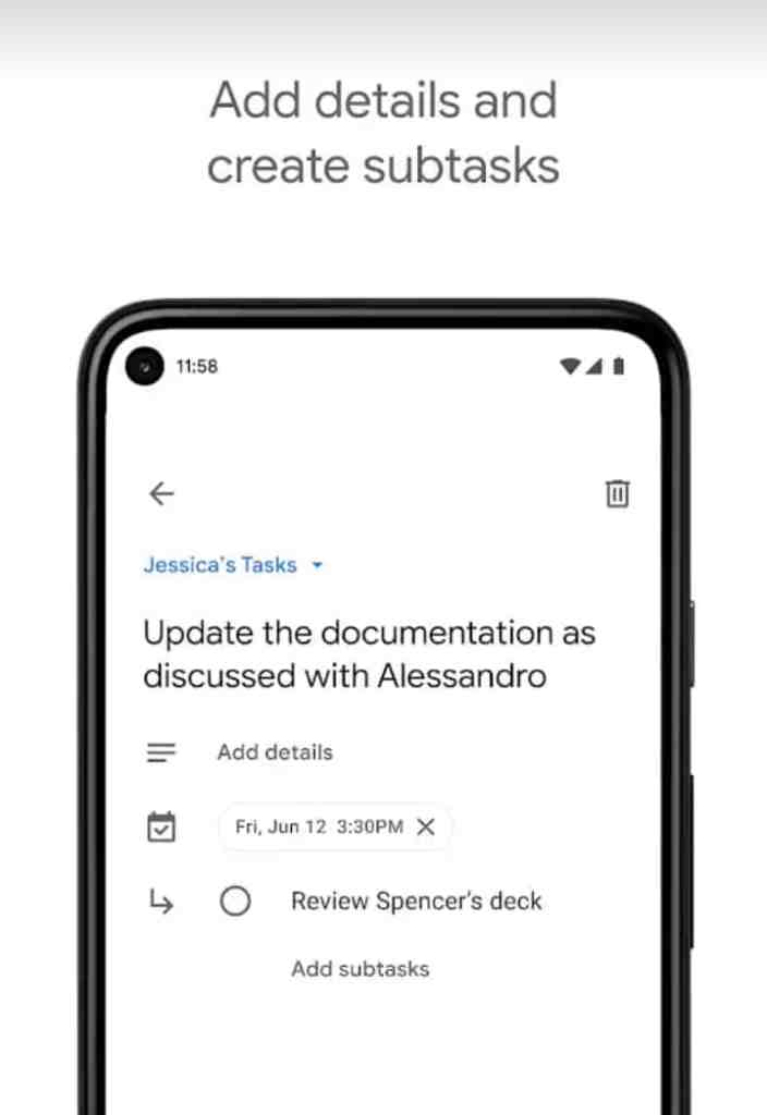 Google tasks: Educational app for students 2021