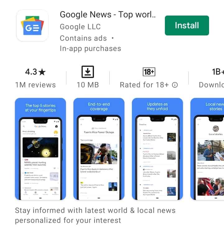 Educational news app