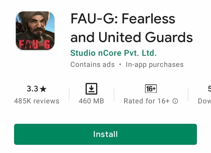 faug next update release date