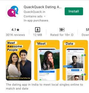 Quack quack dating app for india