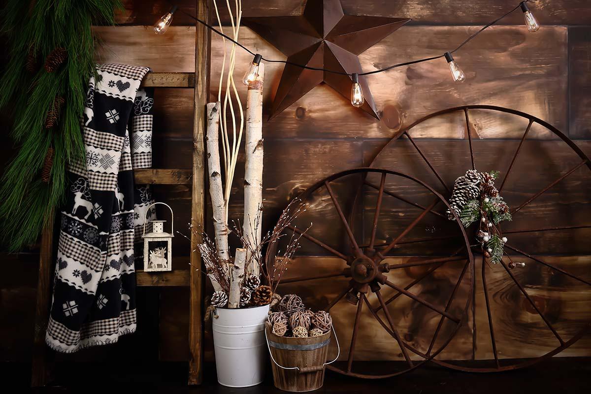 Rustic Cozy Christmas Backdrops Canada