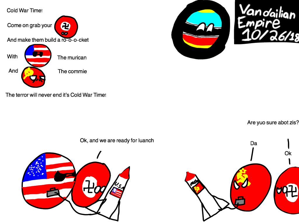Polandball Map Of The Cold War In 2020 Cold War Cold War