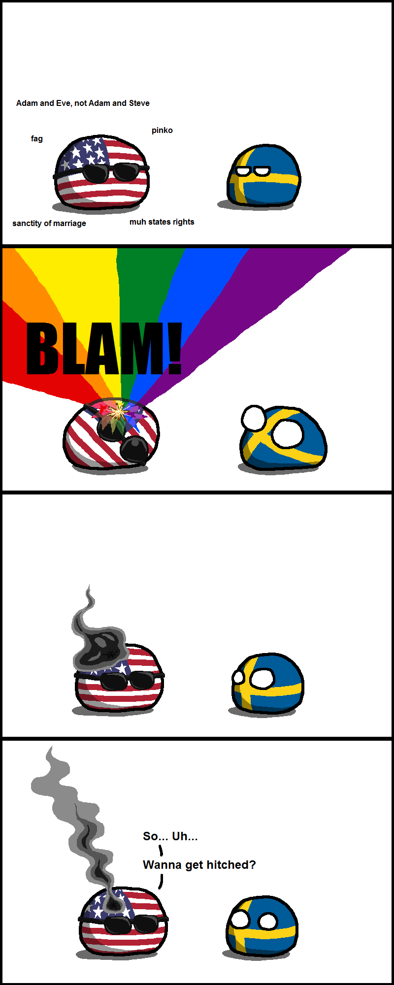 Countryballs Usa Canada And Mexico N America By