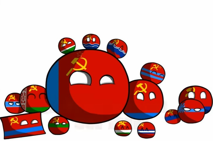 Countryballs Angry Ussr And Russia Stock Illustration