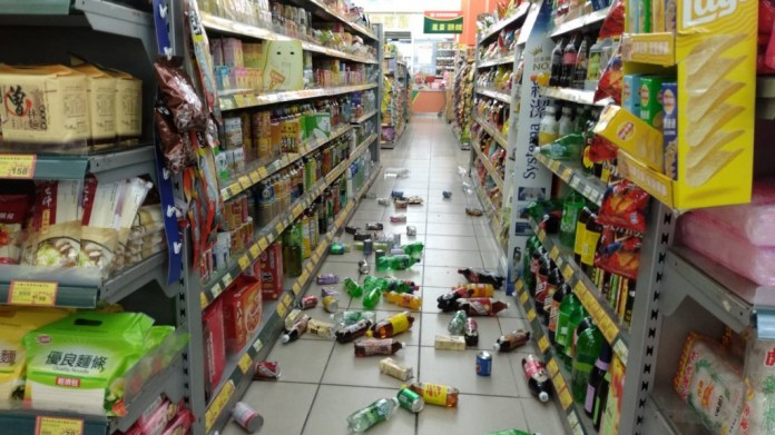 6.0 quake causes blackouts, rock slides, rail cancelations, 1 death in Taiwan 1