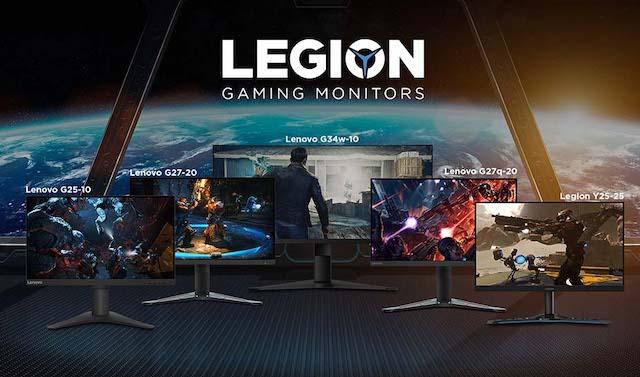 Lenovo Legion Gaming Monitor Lineup 2021