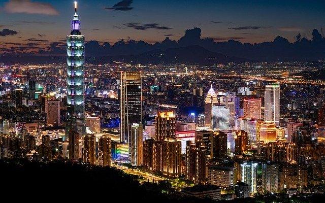 Taipei 101 Taiwan cityscape night