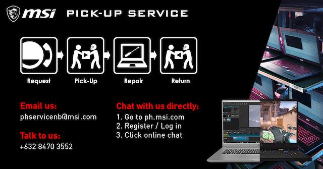 MSI Laptops Pickup Service