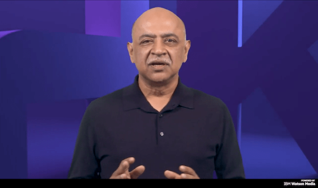 Arvind Krishna, chair and CEO, IBM, at the 2021 IBM Think Conference.