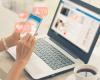 Social Media Laptop Hand