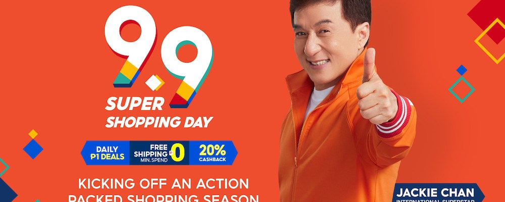 Jackie Chan Shopee 9.9 Super Shopping Day