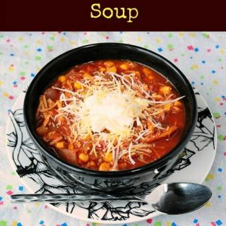 Skinny Slow Cooker Southwest Soup @BackForSeconds #soup #mexicanfood #slowcooker #crockpot