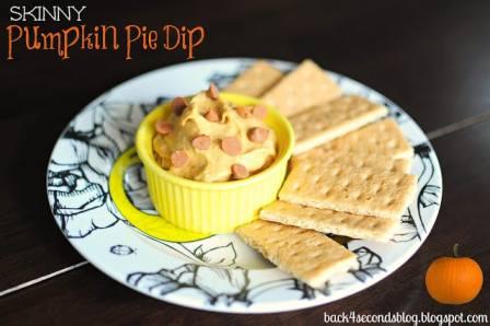 Skinny Pumpkin Pie Dip @BackForSeconds #healthy #snack #skinny #cinnamon #pumpkin