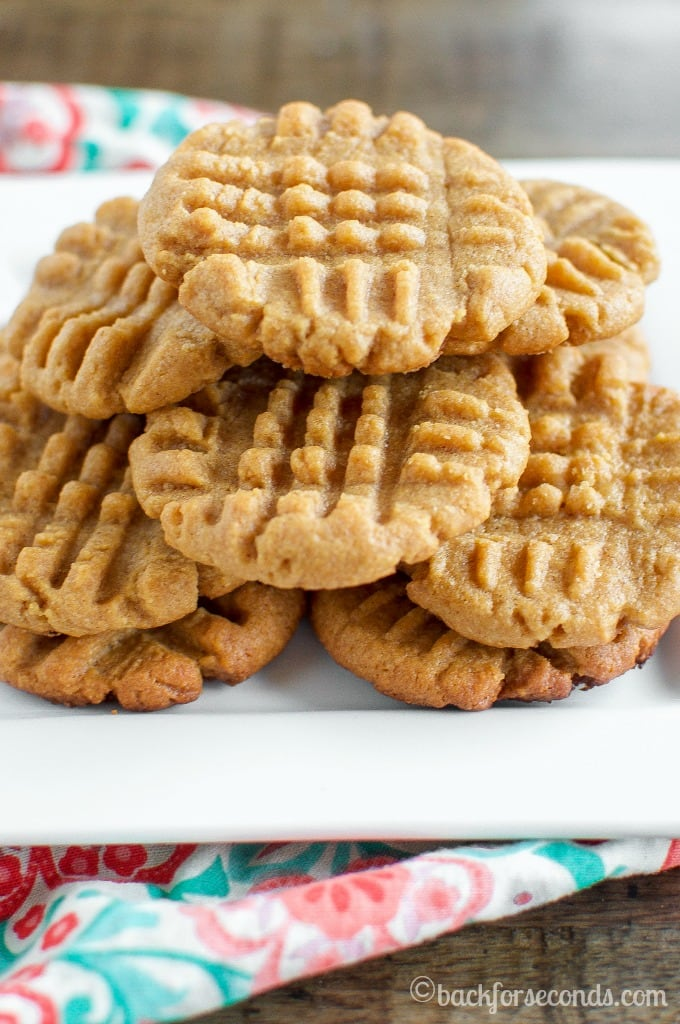 Classic Peanut Butter Cookies - Just 3 simple ingredients, and these are the best peanut butter cookies ever!!!