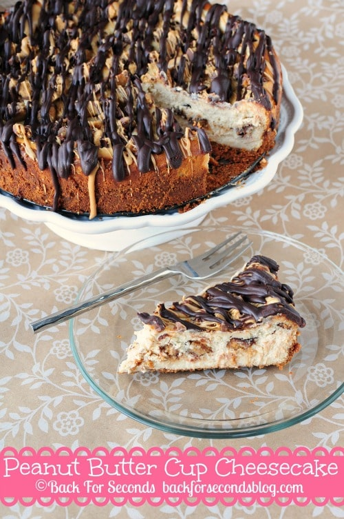 Peanut Butter Cup Cheesecake @Backforseconds