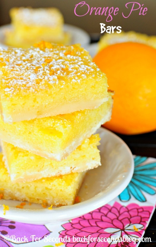 recipe for lemon bars made with oranges