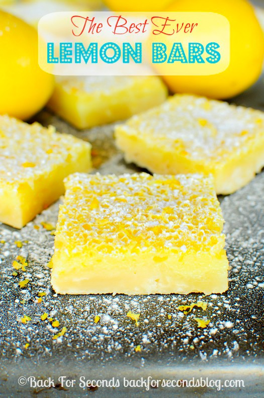 Easy Lemon Bars Recipe - These are the BEST Lemon Bars EVER!