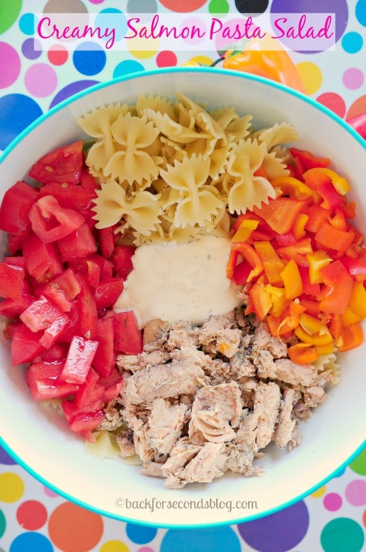 Creamy Pasta Salad Supreme- Perfect light meal or side dish!  #pasta #easymeal #salad