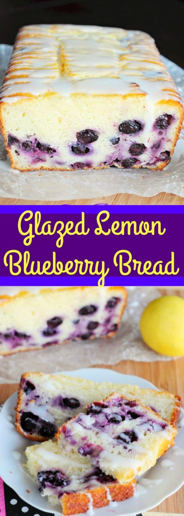 Glazed Lemon Blueberry Bread