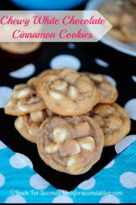 Chewy White Chocolate Cinnamon Cookies