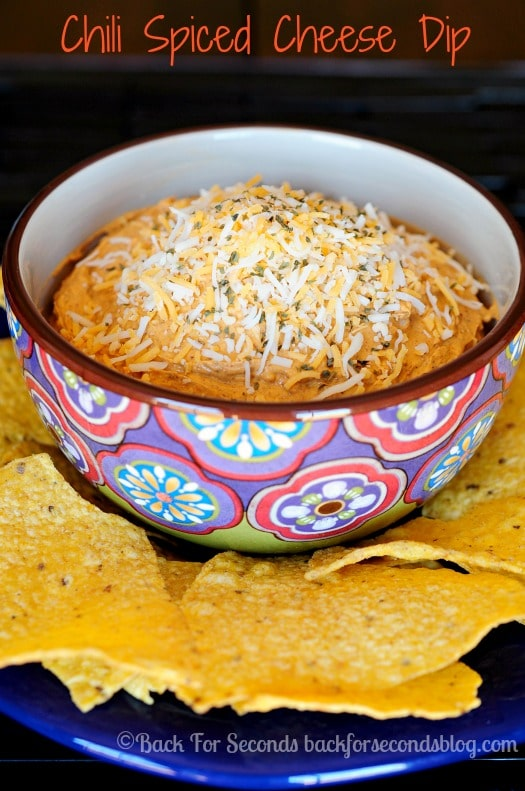 Easy Chili Cheese Ball Recipe - just 4 ingredients! #cheesedip #cheese