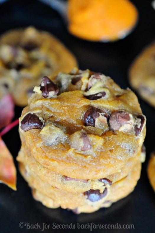 Peanut Butter Pumpkin Chocolate Chip Cookies - Soft, chewy and AMAZING!