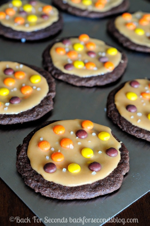Salted Caramel Chocolate Reeses Cookies - soft, chewy, gooey cookie heaven!