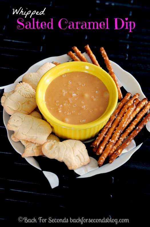 Cream Cheese Caramel Dip - The perfect easy fall dip! #saltedcaramel #dip #fallrecipe