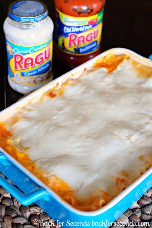Alfredo Lasagna - This is Awesome! My whole family LOVED it!    #NewTraDish