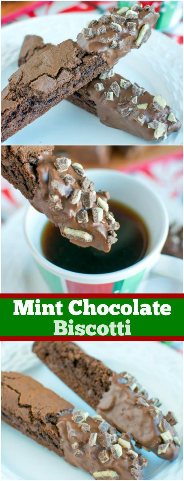 Mint Chocolate Biscotti