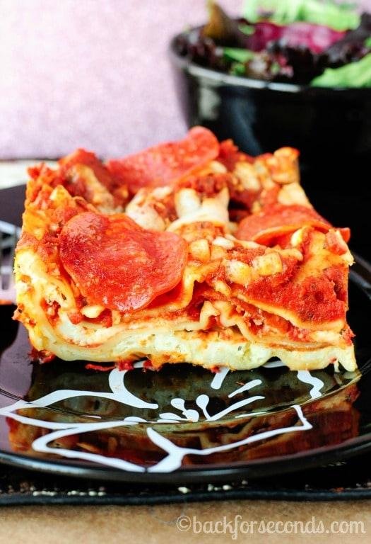 Best Ever Pepperoni Lasagna