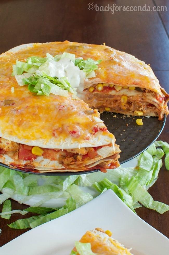 Easy Cheesy Chicken Taco Pie