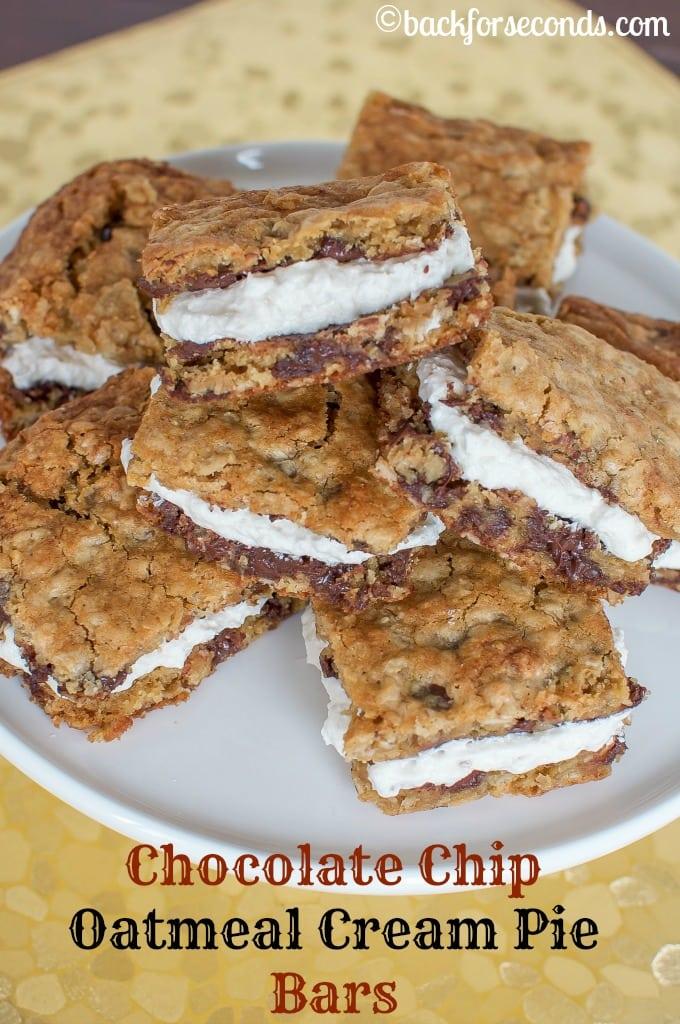 Homemade Oatmeal Cream Pie Bars
