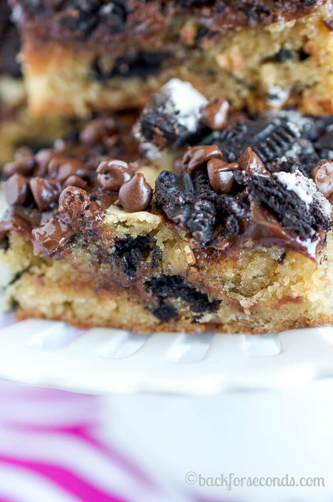 Hot Fudge Oreo Blondies - These are even better than they look!!