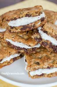 Soft and Chewy Oatmeal Cream Pie Bars