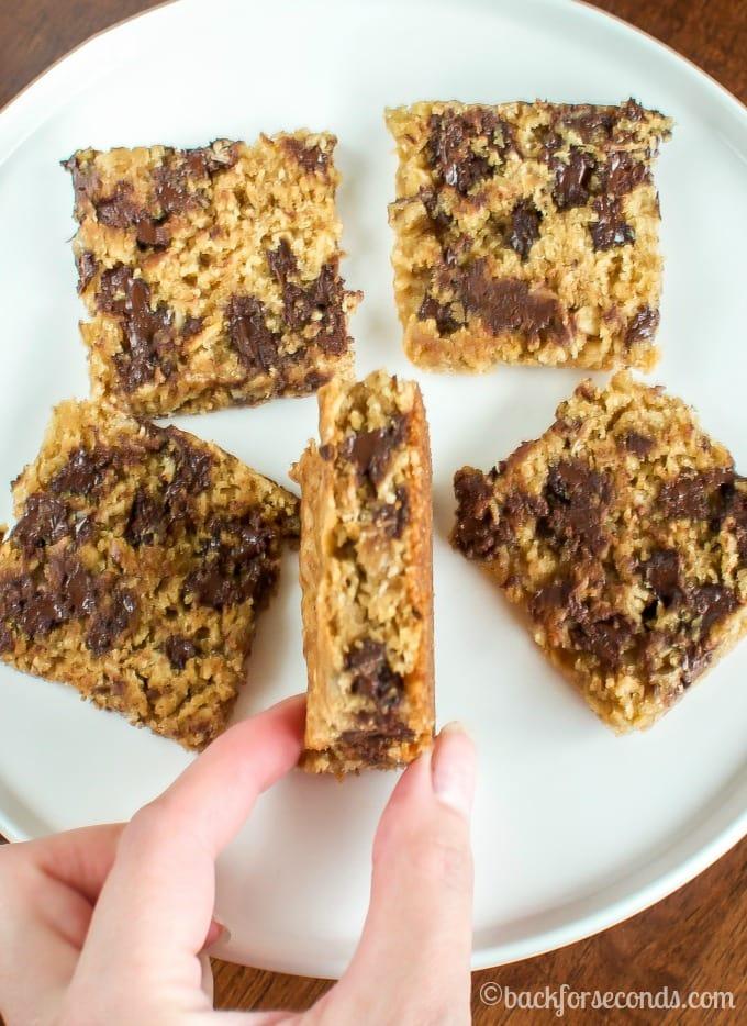 How to Make Chocolate Chip Oatmeal Cream Pie Bars