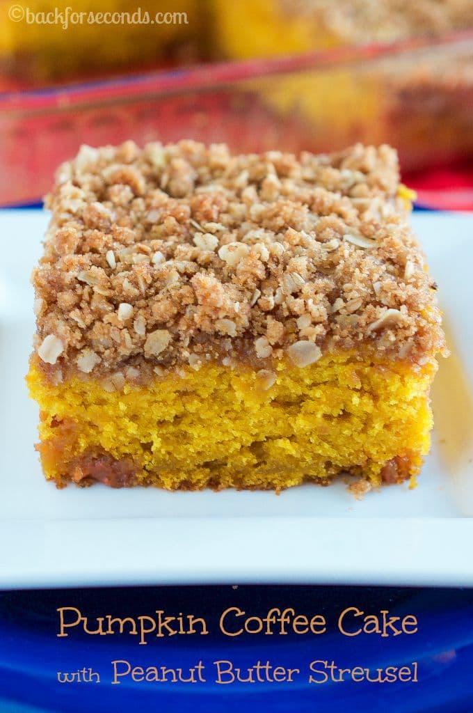Easy Pumpkin Butterscotch Coffee Cake with Peanut Butter Streusel