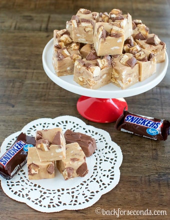 Peanut Butter Snickers Fudge