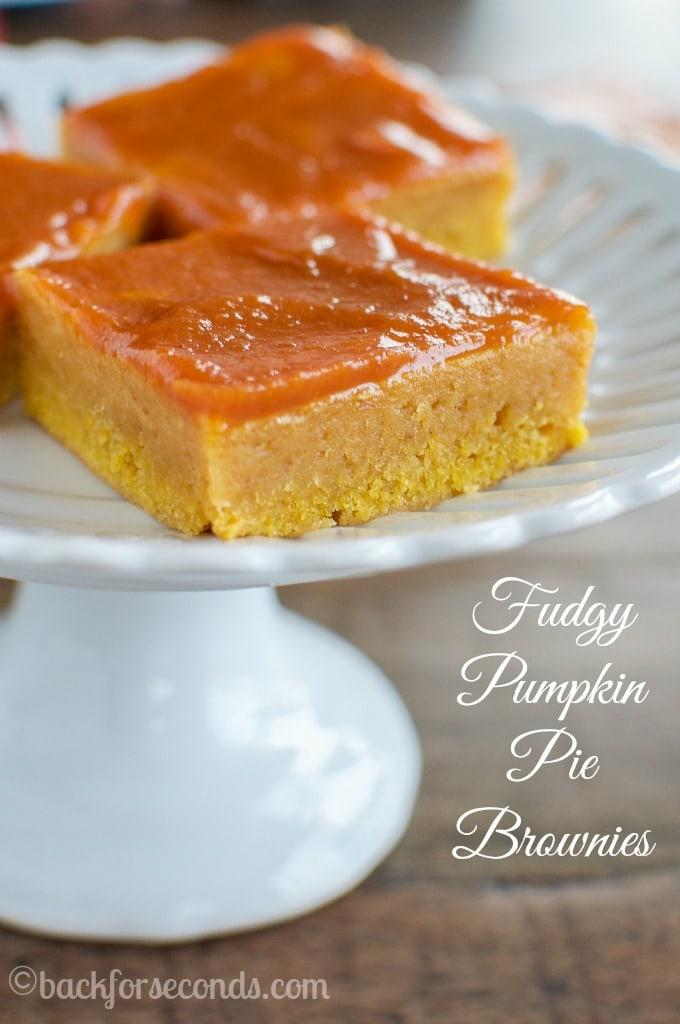 Pumpkin Brownie Recipe with Pumpkin Glaze-2