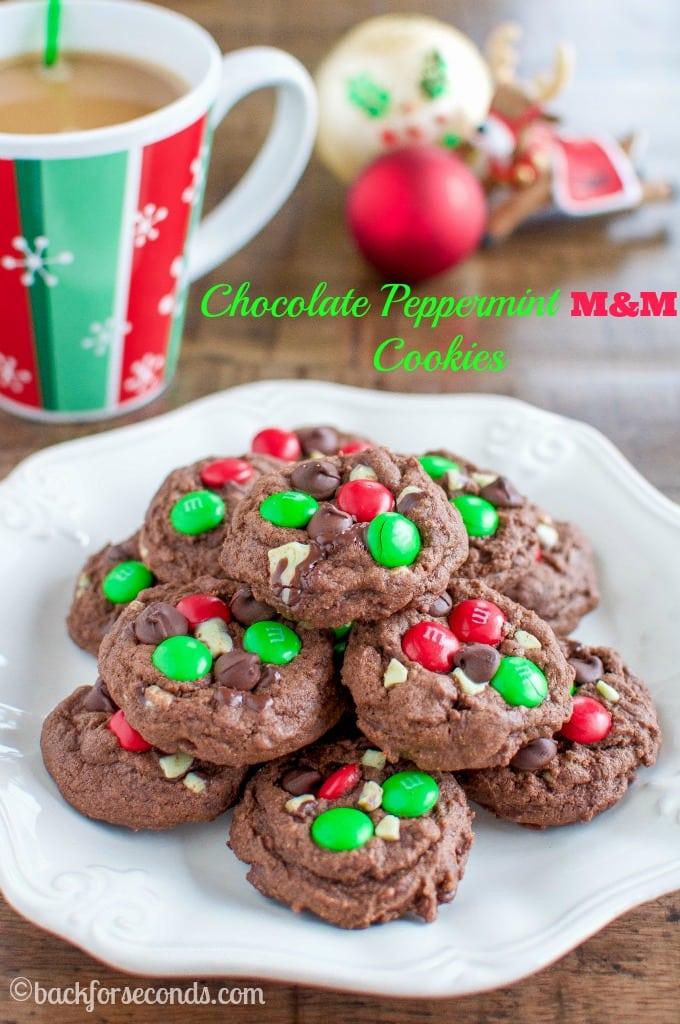 Chocolate Mint MandM Cookies
