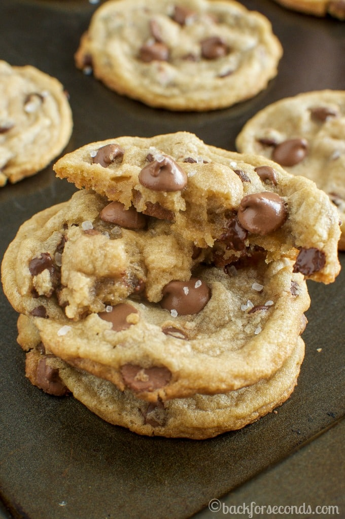 Chewy Milk Chocolate Sea Salt Cookies-These are AWESOME!