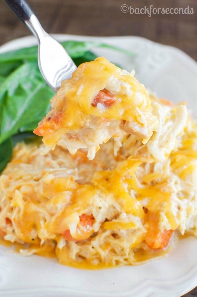 DELICIOUS Easy Cheesy Crockpot Chicken