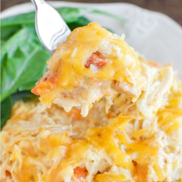 Easy Cheesy Crockpot Chicken - Back for Seconds