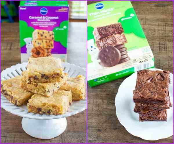 Thin Mint Brownies and Samoas Blondies Mixes