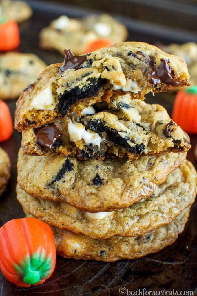 Pumpkin Spice Cookies and Cream Chocolate Chip Cookies