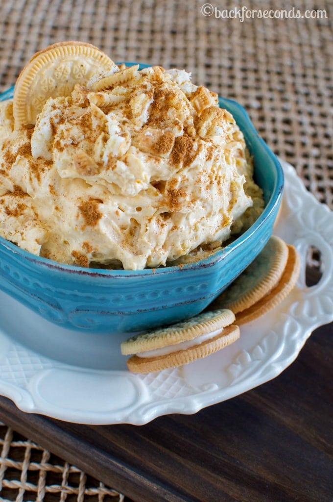 Pumpkin Pie Oreo Cheesecake Fluff Dessert!