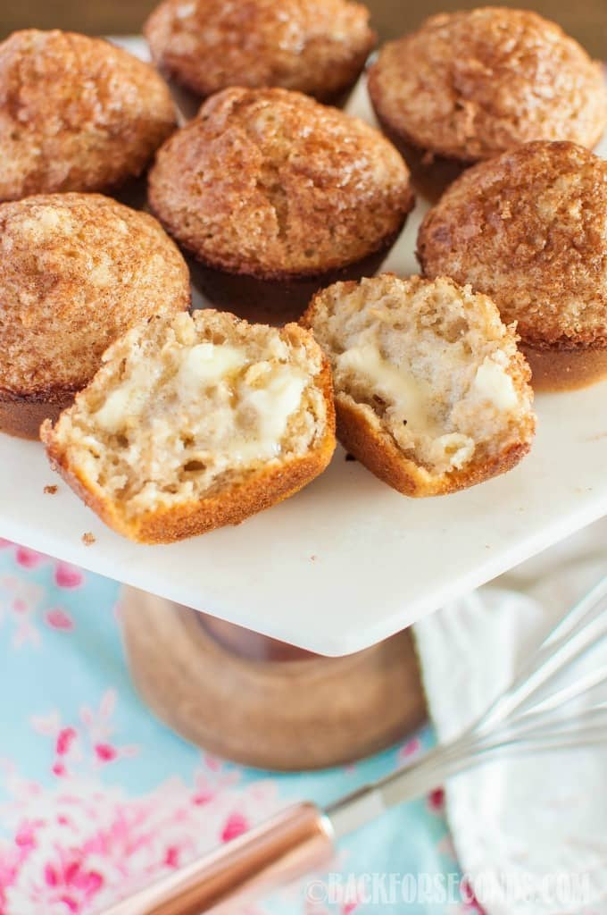 Snickerdoodle Muffins are light and fluffy with an irresistibly crunchy cinnamon sugar topping. All the goodness of snickerdoodle cookies in muffin form!