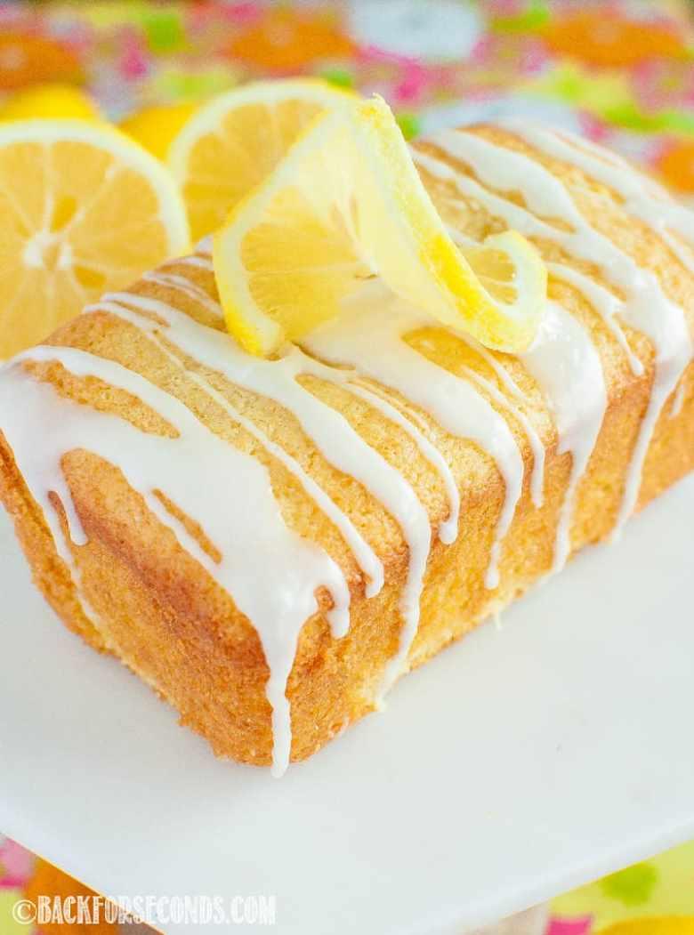 Best Glazed Lemon Loaf close up